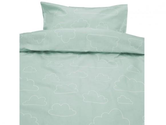 Färg&Form Baby-Bettwäsche Moln ORGANIC Wolken hellgrün (100x130)