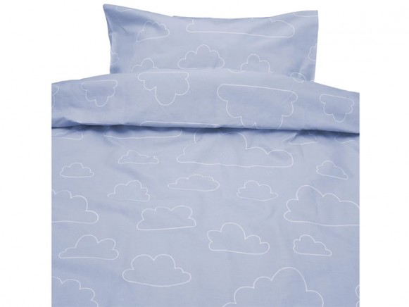 Färg&Form Bettwäsche Moln ORGANIC Wolken blau