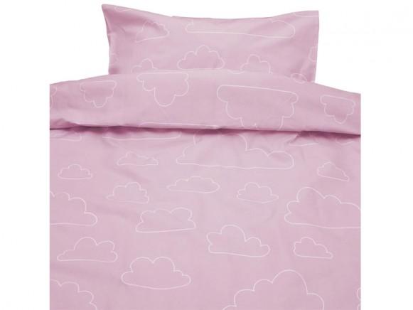Färg&Form Baby-Bettwäsche Moln ORGANIC Wolken hellrosa (100x130)