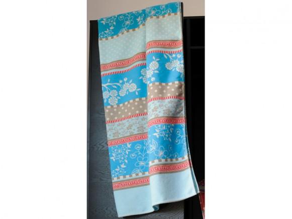 Fussenegger Wohndecke Sylt Romantikpatch blau