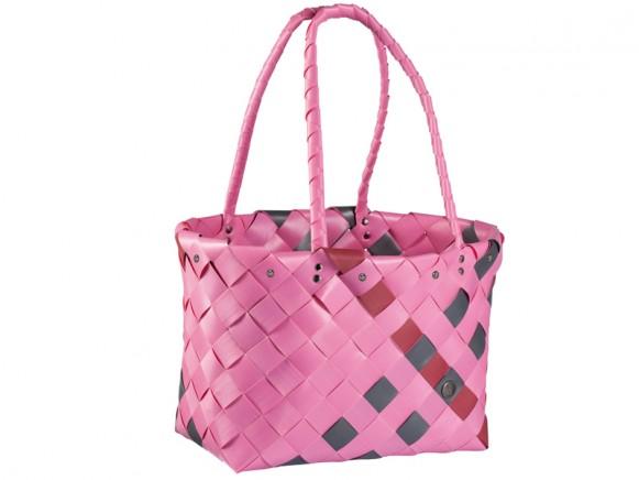 Shopper Amsterdam in pink/dunkelgrau/dunkelrot von Handed By