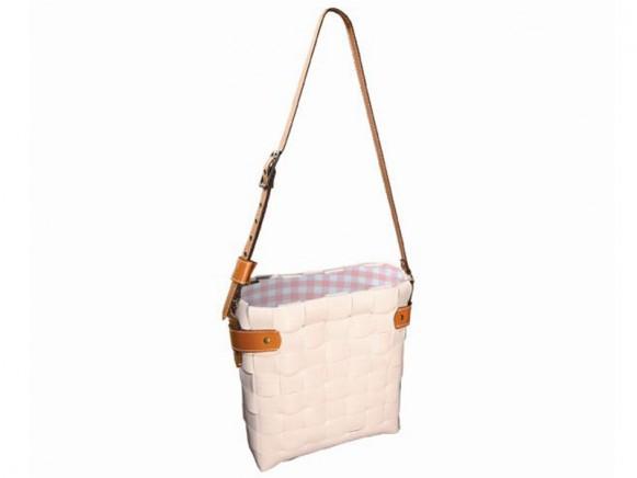 Weiße Tasche Luxembourg von Handed By