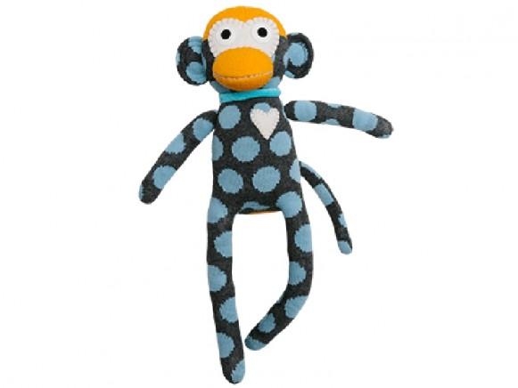 HickUps Sockenaffe Punkte grau/blau