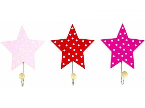 JaBaDaBaDo Garderobenhaken Stern rosa