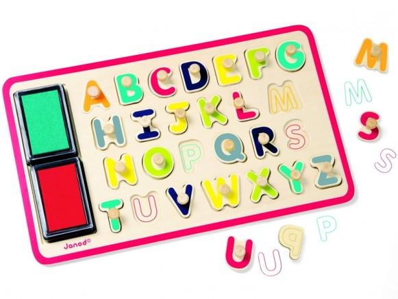 Janod Stempel & Puzzle ABC
