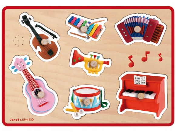 Janod Musik-Puzzle Instrumente