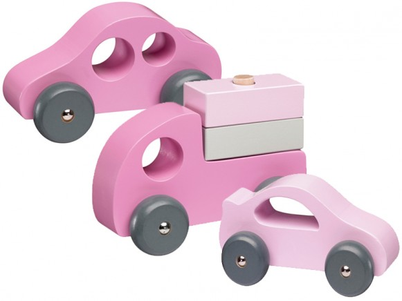 Kids Concept Holzauto Set rosa