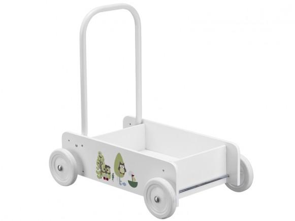 Kids Concept Lauflernwagen Eule grün