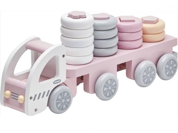 Kids Concept Ringspiel Laster pastellrosa