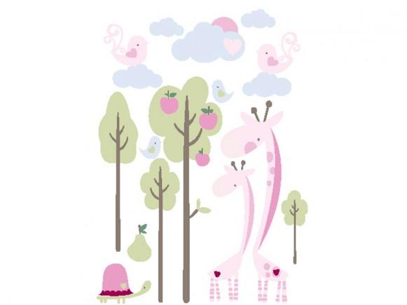 Kids Concept Wandsticker Giraffen