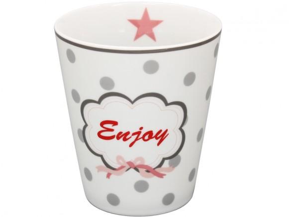 Krasilnikoff Becher Happy Mug Enjoy