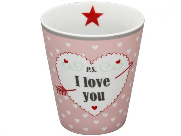 Krasilnikoff Becher Happy Mug P.S. I love you