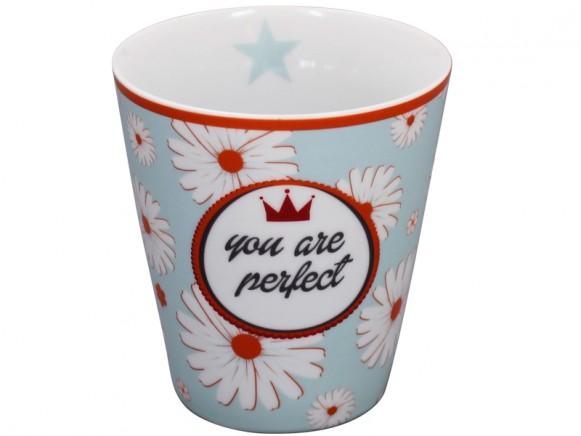 Krasilnikoff Becher Happy Mug You are perfect