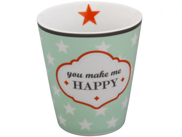 Krasilnikoff Becher Happy Mug You make me happy