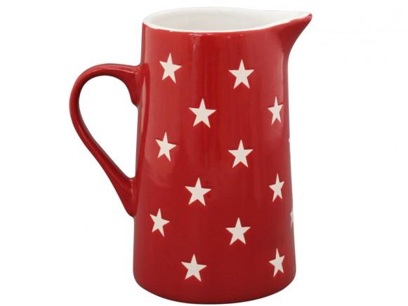 Krasilnikoff Brightest Star Krug Sterne rot