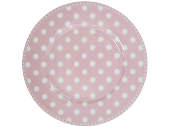Krasilnikoff Frühstücksteller Punkte rosa