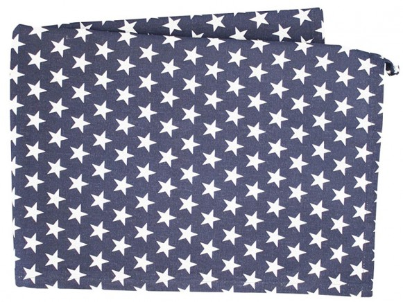 Krasilnikoff Geschirrtuch kleine Sterne dunkelblau