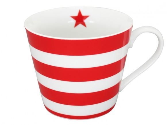 Krasilnikoff Happy Cup Streifen rot