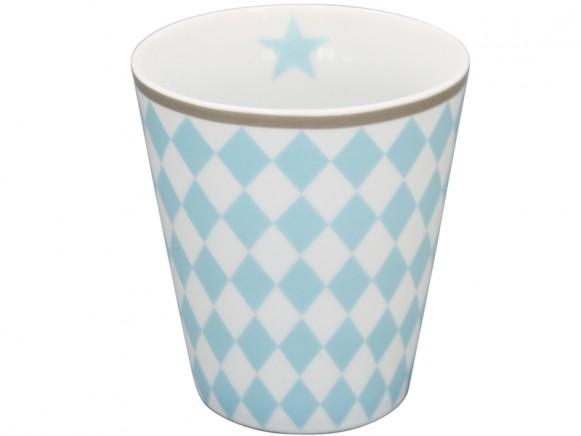 Krasilnikoff Becher Happy Mug Harlekin blau