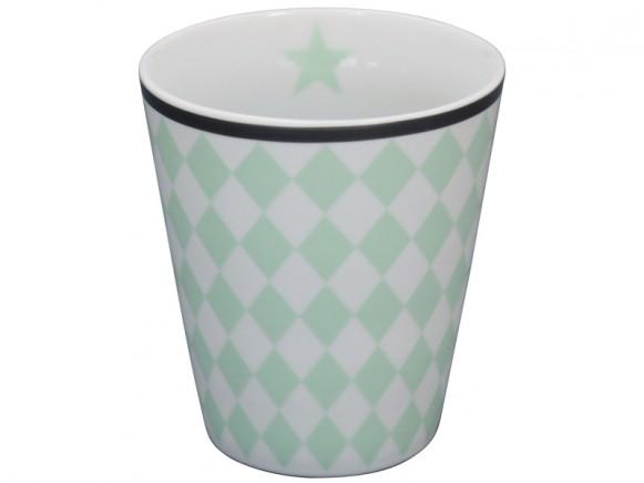 Krasilnikoff Becher Happy Mug Harlekin mint