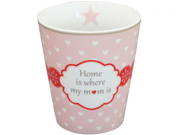 Krasilnikoff Becher Happy Mug Home is where my mom is