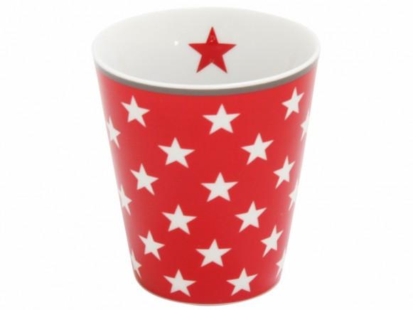 Krasilnikoff Becher Happy Mug Sterne rot