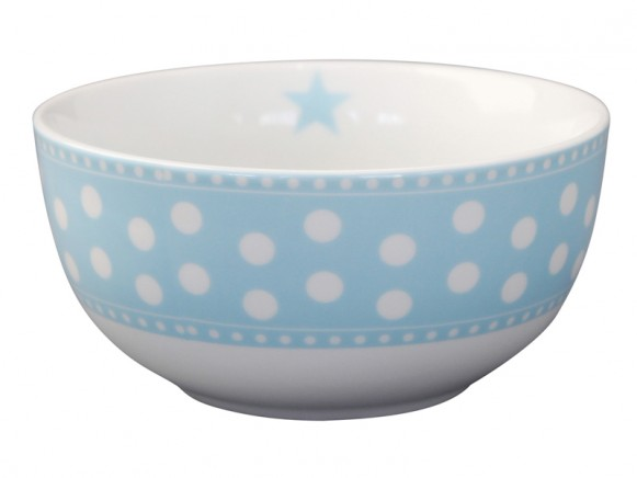 Krasilnikoff Happy Bowl Punkte blau