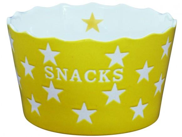 Krasilnikoff Happy Stars Schale Snacks gelb