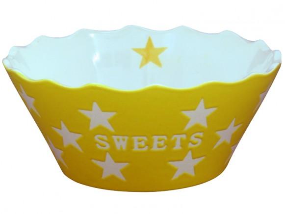 Krasilnikoff Happy Stars Schale Sweets gelb