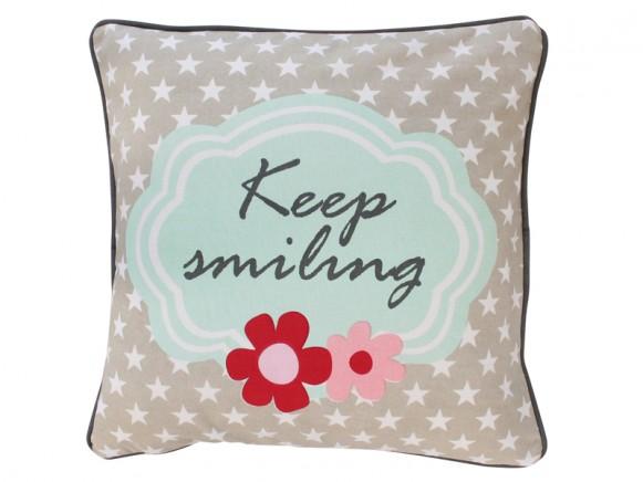Krasilnikoff Kissenbezug Keep smiling