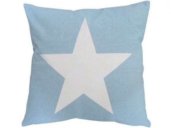 Krasilnikoff Kissenbezug Stern blau
