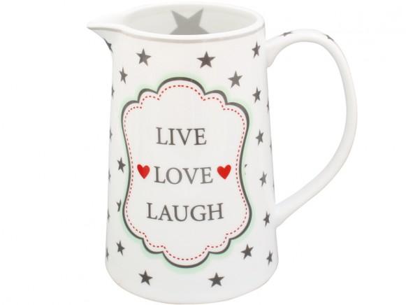 Krasilnikoff Krug Happy Jug Live Love Laugh