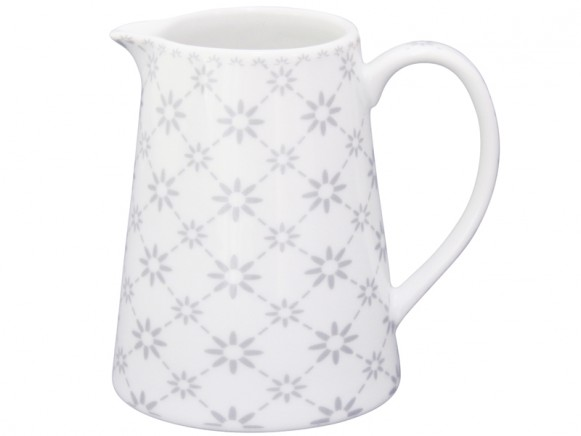 Krasilnikoff Milchkännchen diagonal grau