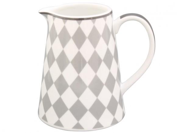Krasilnikoff Milchkännchen Harlekin grau