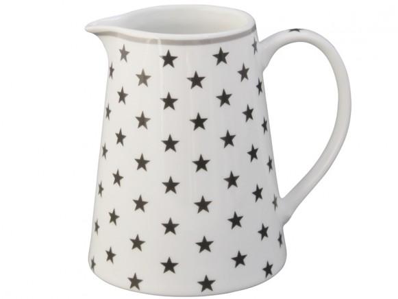 Krasilnikoff Milchkännchen Sterne dunkelgrau