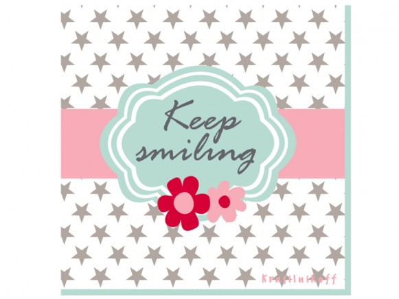 Krasilnikoff Papierservietten Keep Smiling