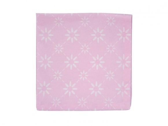 Krasilnikoff Serviette diagonal pink