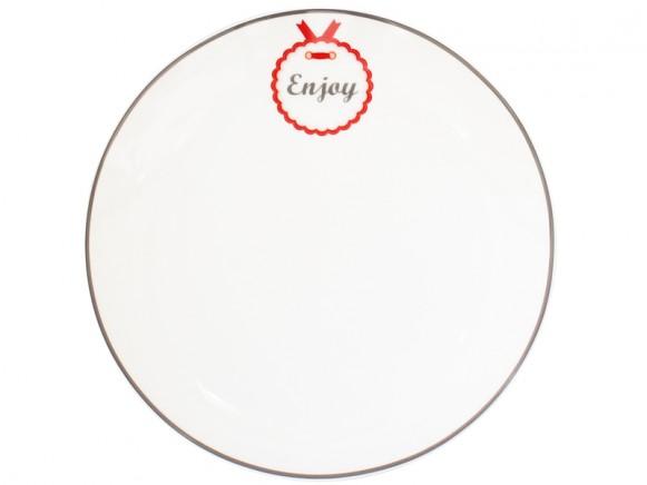 Krasilnikoff Teller Happy Plate Enjoy