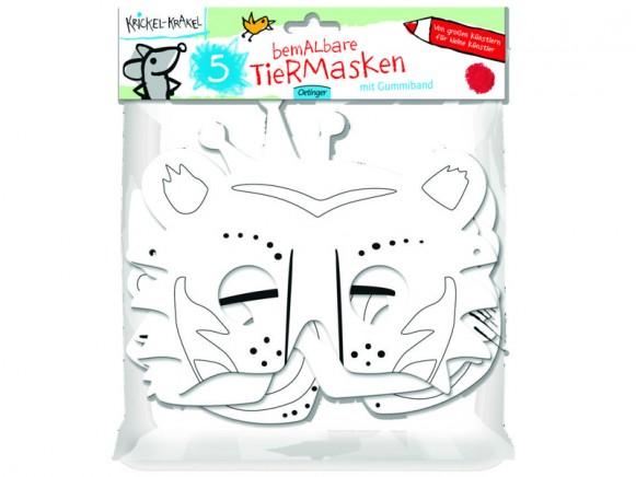 Krickel-Krakel Bemalbare Tiermasken