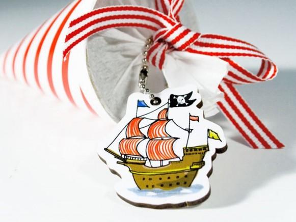 Motivanhänger mit Piratenschiff von krima & isa