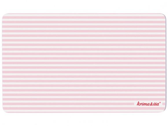 krima & isa Frühstücksbrettchen gestreift rosa
