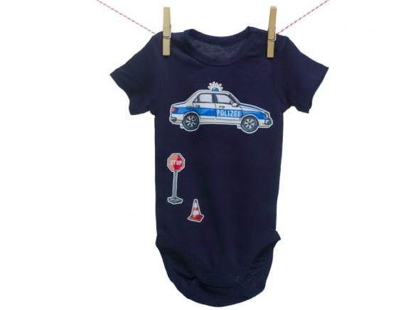 krima & isa Bügelbild Polizeiauto