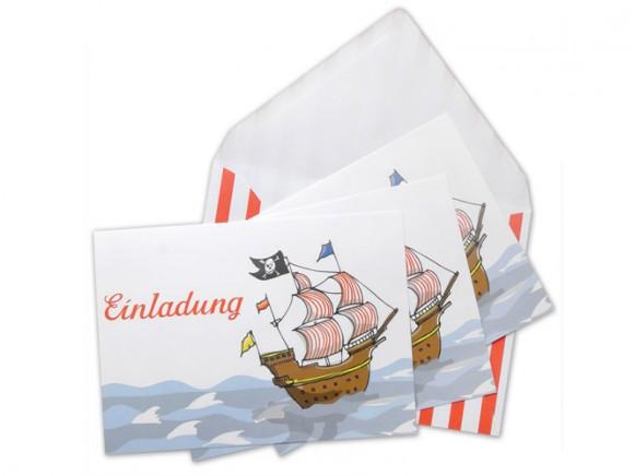 krima & isa Einladungskarten Piratenschiff