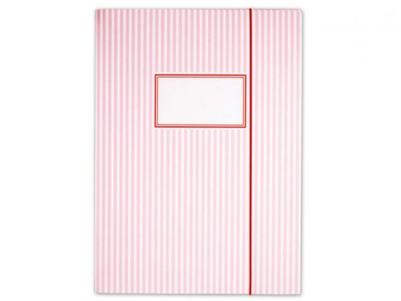 krima & isa Sammelmappe Streifen rosa