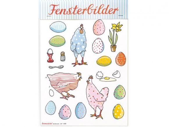 krima & isa Fensterbilder HÜHNER