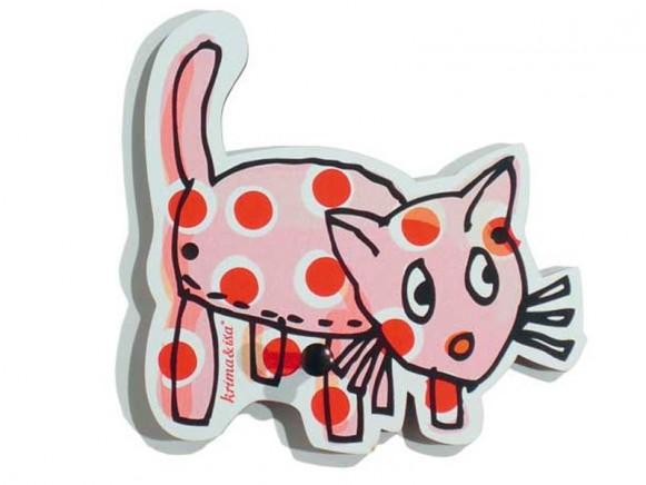 Wandhaken in Katzen-Form von krima & isa