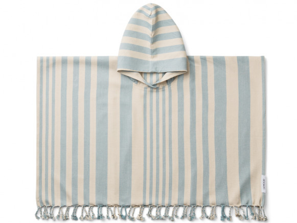 LIEWOOD Poncho ROOMIE Sea Blue/Sandy (7-8)