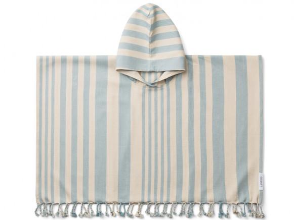 LIEWOOD Poncho ROOMIE Sea Blue/Sandy (9-10)