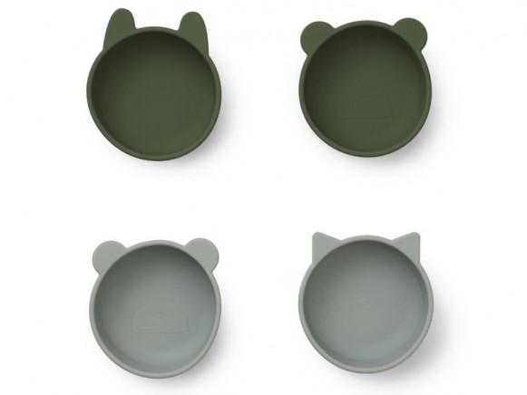 LIEWOOD Silikon Schüssel Set IGGY hunter green mix