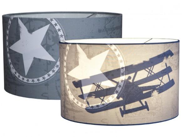 Little Dutch Silhouette Hängelampe Flugzeug grau